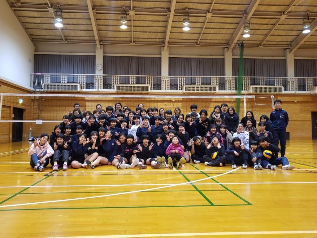 バレーボール教室 親子バレー開催